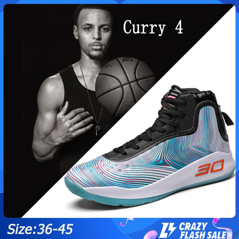 N-K giày bóng rổ Curry 4 NBA giày bóng rổ giày thể thao giày thể thao ngoài trời Trong nhà kasut bola keranjang thumbnail